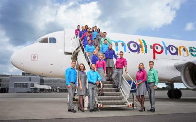 """""""Small planet airlines"""" skelbia bankrotą Vokietijoje"""